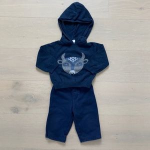 EGG- cotton sweater hoodie with track pants